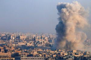 ردود شعبية و مظاهرات تضامناً مع حلب