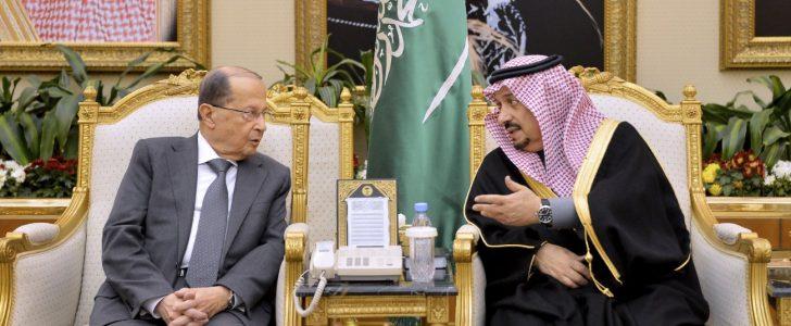 الملك سلمان يستقبل ميشال عون في زيارة رسمية