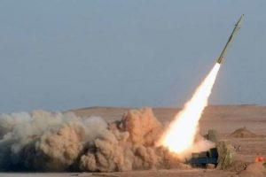 صاروخ حوثي جديد بإتجاه السعودية و السعودية تعترضه في الجو