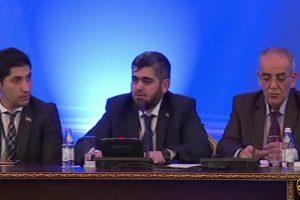 وفد المعارضة السورية فى أستانا يظفر بتعهد روسي بوقف الغارات الجوية على المناطق الخاضعة لسيطرتها