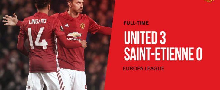مانشيستر يونايتد يحجز مقعد في الدور الـ 16 من الدوري الاوروبي على حساب سانت ايتيان