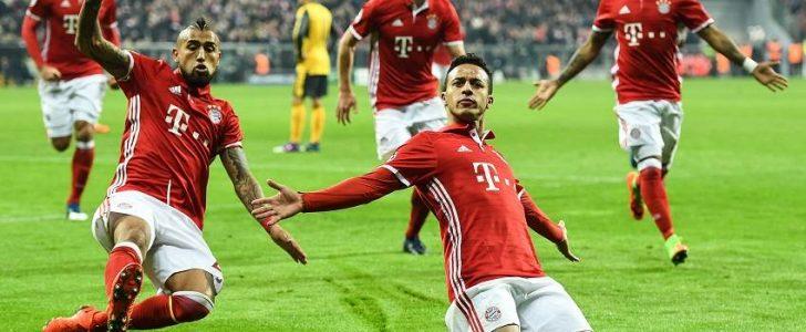 بايرن ميونخ يقسوا على ارسنال بخمسة اهداف ضمن الدور الـ 16 من دوري ابطال اوروبا