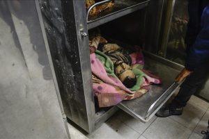 جنازة مهيب لاثنين من الشهداء بفلسطين بعد قصف إسرائيلي .