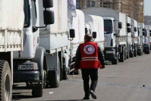 الأمم المتحدة والصليب الأحمر يعلن عن وصول قوافل إغاثة إلى بلدات سورية محاصرة