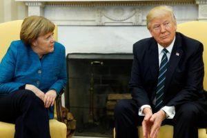 التوتر والخلافات تهيمن على محادثات الرئيس الأمريكي دونالد ترامب والمستشارة الألمانية أنجيلا ميركل