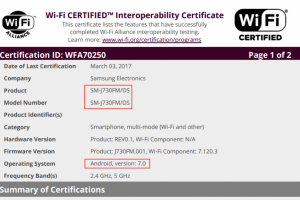 """هاتف """"Galaxy J7 """"2017 سيأتي متمتع بنظام اندرويد نوجا 7.0"""