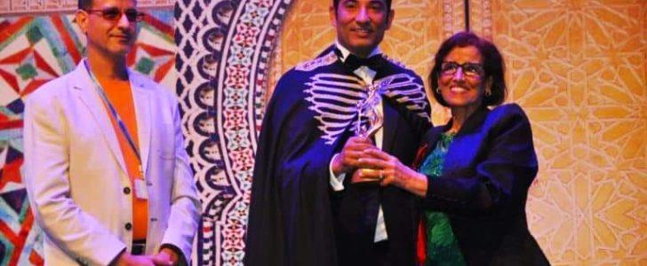 تكريم عمرو سعد وسط حفاوة من شعب المغرب
