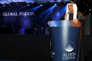 الشيخ سعود بن صقر القاسمي يحضر حفل غلوبال فيوجن